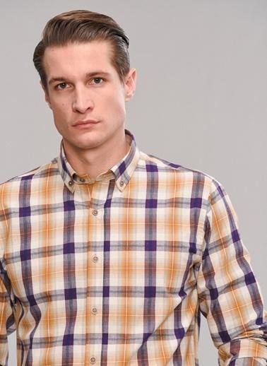 People By Fabrika Düğmeli Yaka Gömlek Ekru